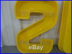 Vintage Sunoco Gas and Oil Service Station Display Sign Plastic Letters
