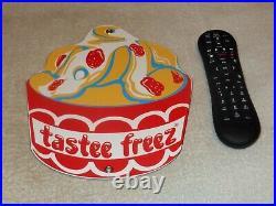 Vintage Tastee Freeze Ice Cream 10.5 Porcelain Metal Freez, Gasoline & Oil Sign