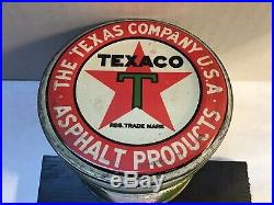 Vintage Texaco NOS Can Oil Lead Handy Oiler 4 Oz rare tin Old Unopened Shell GM