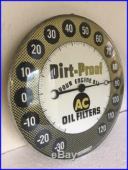 Vintage Thermometer Ac Oil Filter Dirt-proof 12 Inch Glass Face