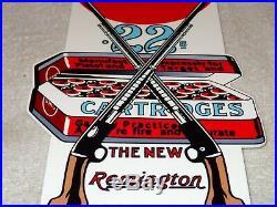 Vintage Umc Remington. 22 Rifle Cartridges 12 Metal Ammo Bullet, Gas & Oil Sign