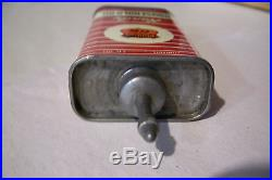 Vintage Very Rare Phillips 66 Handy Oiler Household Oil Tin Can Lead Top