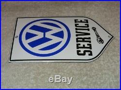 Vintage Volkswagen Vw Car Truck Bus Service 6 Porcelain Metal Gasoline Oil Sign
