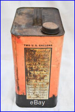 Vintage WESTERN CHIEF Motor Oil Can Horse 2gal 1940s