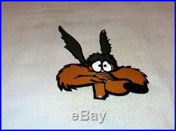 Vintage Wile E. Coyote Road Runner Looney Tunes 13 Metal Gasoline & Oil Sign
