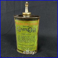 Vintage Winchester Repeating Arms Co Green Gun Oil lead top can Handy Oiler RARE