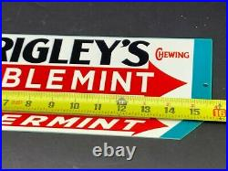 Vintage Wrigley's Double Mint Gum Advertising Sign 16 Metal Gasoline Oil Sign