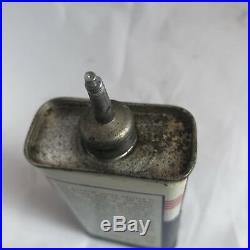Vintage Zephyr Utility Oil Can Lead Top Tin Handy Oiler 4oz NOS Full
