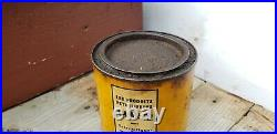 Vintage advertising en-ar-co grease white rose motor oil can gas sign