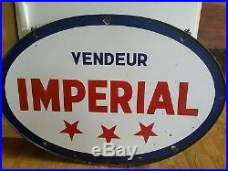 Vintage advertising imperial oil gas station sign 40large