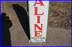 Vintage c. 1930 Sinclair Opaline Motor Oils Gas Station 60 Porcelain Metal Sign