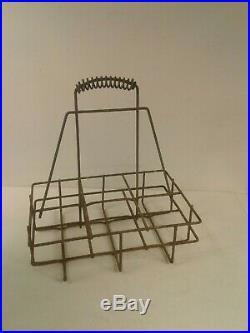 Vintage oil bottle holder wire rack 6 bottles suit Golden Fleece/Castrol/Ampol