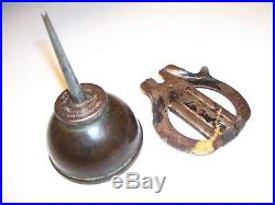Vintage original Ford oil can with Under hood mount Bracket 1920s Model A T tool