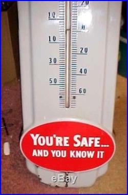 Vintage original porcelain prestone anti-freeze thermometer gas, oil, sign