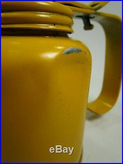 Vintage yellow john deere oiler can oil JD92 Part advertising