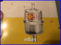 Vtg 1960s Shell Oil Air Gasoline Filters Tin Rack Top Sign Gas Service Station