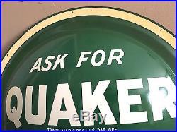 Vtg NOS Original Quaker State Motor Oil Gas Bubble Tin Metal Not Porcelain Sign