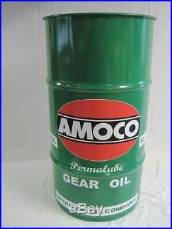 Vtg-Style 16-Gal Oil Drum-Barrel for AMOCO PermalubeTrash Can/ Garage Decor