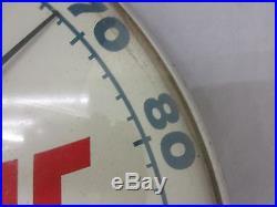 Vtg Valvoline Oil Advertising Wall Thermometer/Glass Face/Aluminum Back 551-Y